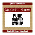 Maple Syrup Square Labels